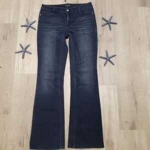 {WHB  jeans size 8 embroidered flap pocket bootleg
